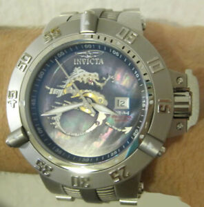 Invicta Subaqua Noma III Dragon Mother of Pearl SW200 Auto Watch 6695 LE #/500