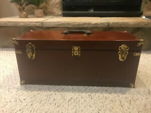 Vintage Abercrombie and Fitch Mahogany and Brass Tackle Box
