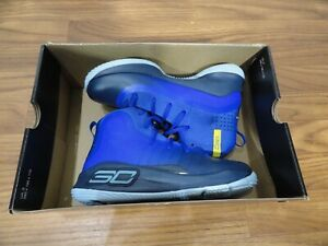 UNDER ARMOUR Curry 4 Grey Sz 2Y Kids Basketball Shoes BRAND NEW $74.99