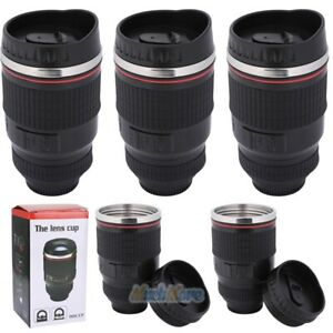 24-105 Camera Lens Coffee Mug Photo Coffee Cup Stainless Steel Travel Thermos US