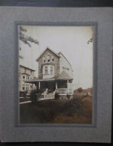Interesting Stone Victorian Home Photograph 5 x 6 inches $8.00