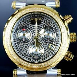 Invicta Subaqua Noma I Two Tone Steel 1.6CTW Diamond 47mm Swiss Mvt Watch New