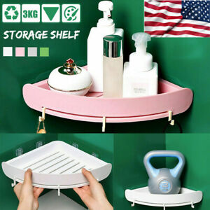 1-4x Bathroom Triangular Shower Caddy Corner Shelf Storage Holder Organizer Rack