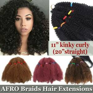 BULK SALE Kinky Curly Afro Long Hair 100% Natural As Human Hair Extensions T349