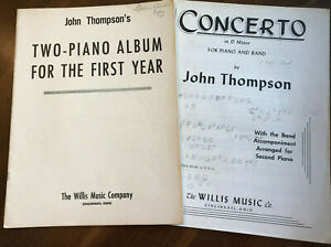Duet 2 Piano 4 Hand John Thompson TWO PIANO ALBUM FOR THE FIRST YEAR amp; CONCERTO $15.00