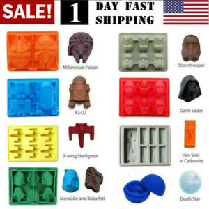 US Star Wars Ice Tray Silicone Mold DIY Ice Cube Tray Chocolate Mould Death Star