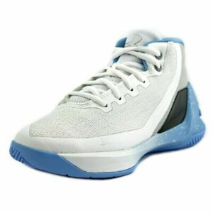 NEW Little Kids Under Armour UA Curry 3 Basketball Shoes White Opal Blue Steel $35.00