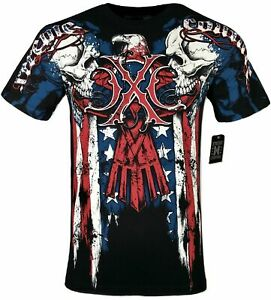 XTREME COUTURE by AFFLICTION Men T Shirt COUTURE PATRIOT Tatto Biker MMA S 4X $23.99