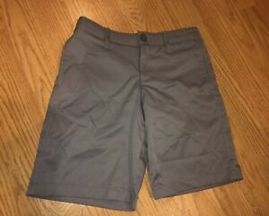 Boys Under Armour Heatgear Grey Golf Shorts Youth Size 7 Youth XS $17.99