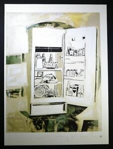 """Andy Warhol Hand Signed Print """"Icebox"""" with COA.  Fully stocked with food!!!"""
