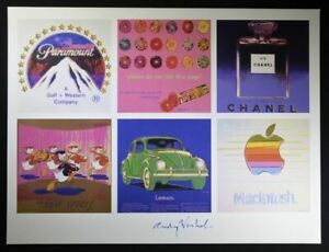 """Andy Warhol Hand Signed Print """"Gallery"""" (Paramount Chanel Apple VW) w COA"""