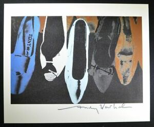 """Andy Warhol Hand Signed Print """"Shoes Tony"""" with COA.  Unique Warhol Print."""