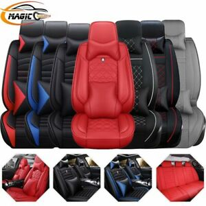 14pc Interior Leather Car Seat Cover Waterproof 5 Seats Truck Full Set Protector