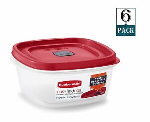 Rubbermaid Easy Vented Find Lids 5-Cup  Food Storage Container (Pack of 6)