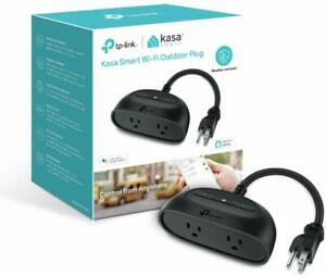 Kasa Smart Outdoor Plug with 2 Outlets Individual Control IP64 Waterproof