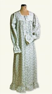 Victorian Trading Co Bonnie Blue Floral Flannel Nightgown XL $65.95