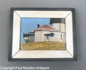Point Judith Lighthouse Painting by Nantucket Artist John Austin $795.00