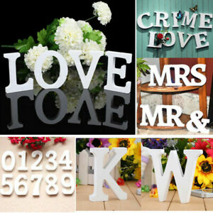 26 Letters HOT Wooden Ornament Merry Christmas Love Home Cafe White Wood Decors.