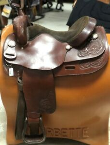 "Big Horn 16"" Draft Horse Saddle Brown Leather #1680 Pre-Owned – Good Condition"