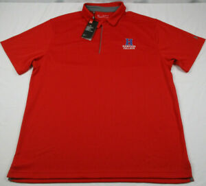 Under Armour Golf Mens Polo Shirt Heatgear 2XL Red Loose Fit Hanover College NWT $23.99