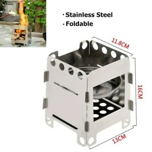 Camping Stove Wood Burning Stoves Mini Folding Stainless Steel Backpacking Stove