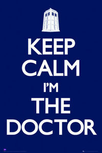 Doctor Who  Keep Calm I'm The Doctor poster 24 x 36 inch  Free Shipping