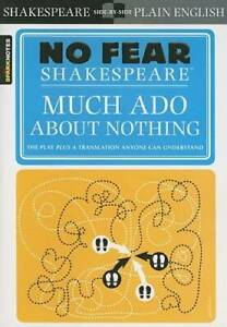Much Ado About Nothing No Fear Shakespeare Paperback VERY GOOD