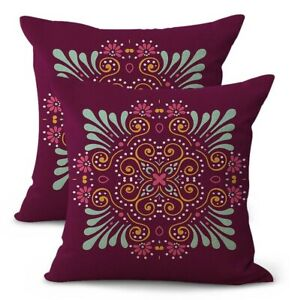 set of 2 flower mandala yoga meditation wholesale pillow covers