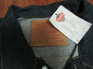 Vintage New Levis  Big E LVC  44 Lot 506XX Collection Made In USA Jaket