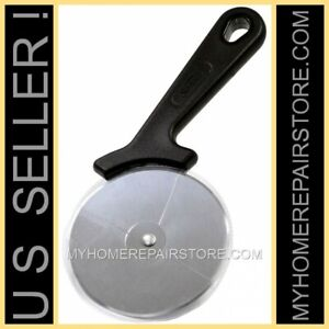 FREE S&H ! — SUNBEAM — BLACK— PIZZA CUTTER /SLICER WITH 3.5 INCH STAINLESS WHEEL