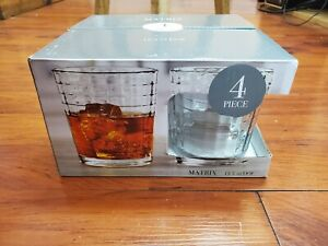 (Set of 4) Circleware 40111 Matrix Heavy Base Whiskey Glasses 12.5 oz