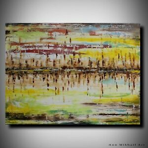 Southwestern Abstract Boho Original Oil Painting Large Art 30 by 40 Ann Mikhail $419.95