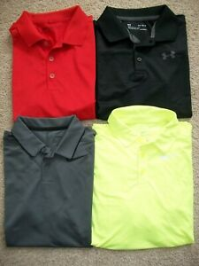 NWOT LOT OF 4 BOYS SIZE L YLG NIKE GOLF amp; UNDER ARMOUR POLO SHIRTS 859 $39.99