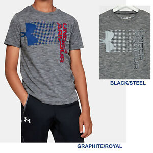 Boys Under Armour T Shirt Crossfade Short Sleeve Shirt Relaxed Fit NEW $17.95