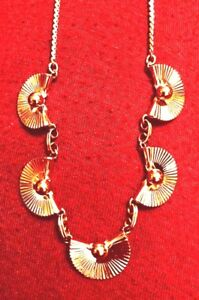 Vintage Signed VAN DELL Gold Filled Fan Necklace $26.00