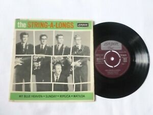 THE STRING A LONGS MY BLUE HEAVEN RARE 1962 UK RnR 7 VINYL EP PLAYS SOLID