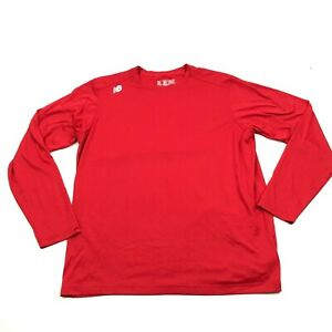 New Balance NB Dry Fit Shirt Men Size XL Extra Large Red Long Sleeve Lightweight $13.14
