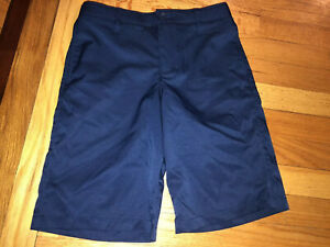 Boys Under Armour Heatgear Golf Shorts Loose Fit Navy Blue Youth 12 $17.99