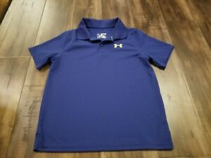 Under Armour Polo Style Shirt Blue X Large Boy's Kids Youth $12.74