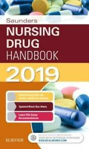 Saunders Nursing Drug Handbook 2019 1e Paperback VERY GOOD