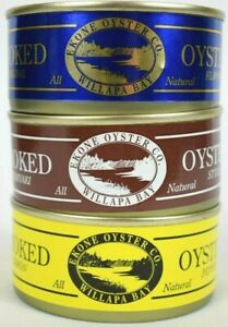 Ekone Willapa Bay Washington Smoked Oysters Original Lemon Pepper or Teriyaki