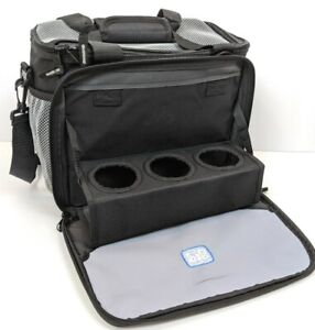 Insulated Lunch Bag Soft Cooler Tote - 3 Cup Holders - Adjustable Strap