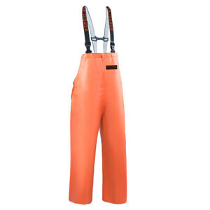 Grundens Herkules 16 Commercial Fishing Bibs Pants Trousers Bib Hercules Orange