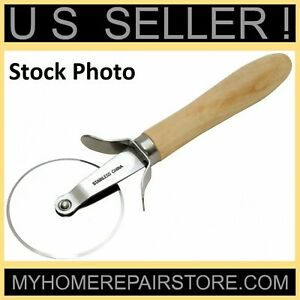 FREE S&H! — CHEF CRAFT —WOODEN HANDLE— PIZZA CUTTER — 2.5