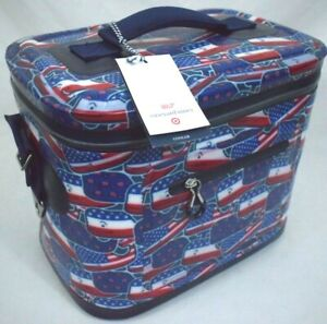 Vineyard Vines For Target Whale and USA Flag Red White Blue 12 Can Cooler New