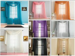 Empire Home 216quot; Long Sheer Curtain Valance Window Scarf Great Value 30 Colors