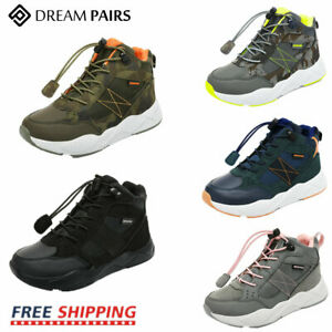 DREAM PAIRS Kids Boys Girls High Top Fashion Sneakers JR Unisex Athletic Shoes $13.99