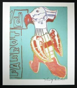"""Andy Warhol Signed Print """"Parrot"""" from 1986.  Hand signed by Warhol with COA."""