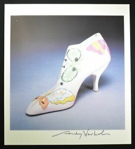 """Andy Warhol Signed Print """"Shoe"""" (with butterflies).  Hand Signed with COA."""