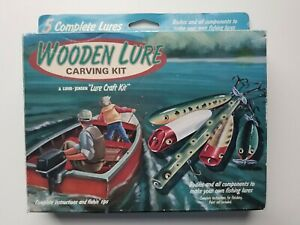 Vintage LUHR JENSEN Wooden Lure Carving Kit - New in Box